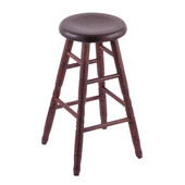 Holland Stoutmeister Commercial Oak Saddle Dish Seat Bar Stool, Different Finishes Available, 30''