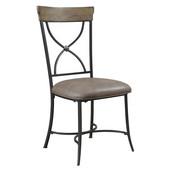Charleston X-Back Dining Chair, Set of 2, Desert Tan Finish, 20''W x 19''D x 39-1/2''H
