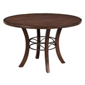 Cameron Wood Counter Height Round Dining Table, Chestnut Brown Finish, 42'' Dia. x 36''H