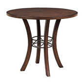 Cameron Wood Round Dining Table, Chestnut Brown Finish, 48'' Dia. x 30''H
