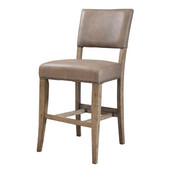 Charleston Parson Non-Swivel Stools, Set of 2, Desert Tan Finish, 18-3/4''W x 23-1/2''D x 41''H, 26'' Seat Height