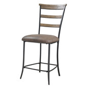 Charleston Ladder Back Non-Swivel Stools, Set of 2, Desert Tan Finish, 19-1/2''W x 19-1/4''D x 41-3/4''H, 26'' Seat Height