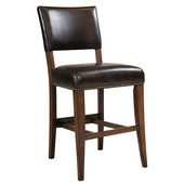 Cameron Parson Non-Swivel Stools, Set of 2, Chestnut Brown Finish, 18-3/4''W x 23-1/2''D x 41''H, 26'' Seat Height''