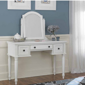 Bermuda Vanity & Mirror, White