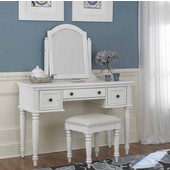 Bermuda Vanity, Mirror & Bench, White