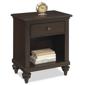 Bermuda Night Stand, Espresso Finish, 22''W x 16''D x 28''H