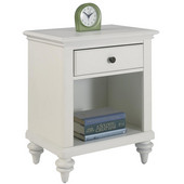 Bermuda Night Stand, Brushed White Finish, 22''W x 16''D x 28''H