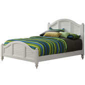 Bermuda Queen Bed Set, Brushed White Finish, 63''W x 70''D x 54''H