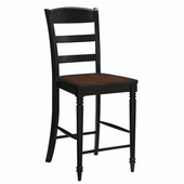 Grand Torino Bar Stool, Black/Rustic Cherry, 17-3/4''W x 20-1/2''D x 41''H