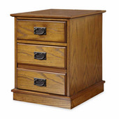 Modern Craftsman Mobile File, Distressed Oak and Deep Brown, 17-3/4''W x 20-1/2''D x 23''H