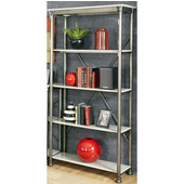The Orleans Multi-Function Four Tier Shelf, Gray and Marble, 38''W x 16''D x 76''H
