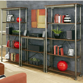 The Orleans Multi-function Storage Unit, Gray and Caramel, 114''W x 16''D x 76''H