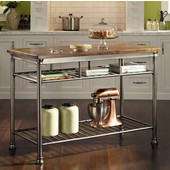 The Orleans Kitchen Island, Vintage Caramel, 52'' W x 25'' D x 36''H