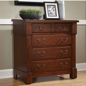 The Aspen Collection Drawer Chest, Rustic Cherry, 36''W x 18''D x 36''H