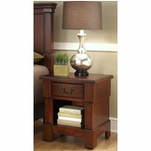 The Aspen Collection Night Stand, Rustic Cherry, 22''W x 18''D x 24''H