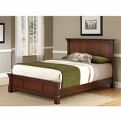 The Aspen Collection Queen Bed, Rustic Cherry, 66''W x 90-3/4''D x 52''H