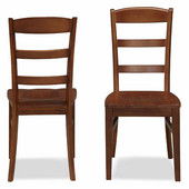 The Aspen Collection Ladder Back Dining Chairs, Rustic Cherry, Set of 2, 20-3/4''W x 17-3/4''D x 38''H
