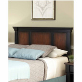 The Aspen Collection Queen/Full Headboard, Rustic Cherry and Black, 66''W x 4-1/2''D x 42''H