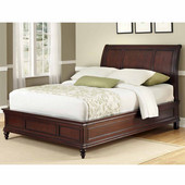 Lafayette Queen Sleigh Bed, Rich Cherry, 62-3/4''W x 94-3/4''D x 53''H