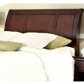 Lafayette Queen/Full Sleigh Headboard, Rich Cherry, 62-3/4''W x 9-1/4''D x 53''H