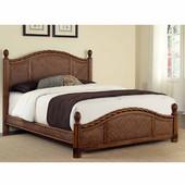 Marco Island Queen Bed, Cinnamon , 65-1/4''W x 89''D x 53''H