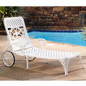 Biscayne Chaise Lounge Chair, White, 25-1/2''W x 72''D x 39-1/2''H
