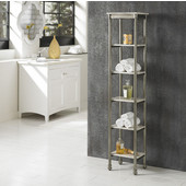The Orleans Six Tier Tower, Gray and Marble, 13''W x 11''D x 60''H