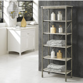 The Orleans Six Tier Shelf, Gray and Marble, 24''W x 14''D x 60''H