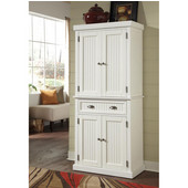 Nantucket Pantry, Distressed White, 30''W x 16''D x 71-1/2''H
