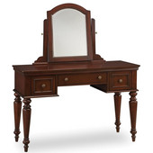 Lafayette Vanity Table & Mirror, Cherry, 46''W x 19-3/4''D x 57''H