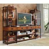 Modern Crafts 3-Pc. Gaming Entertainment Center, Oak, 54''W x 18''D x 31-1/2''H