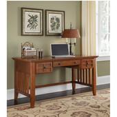 Arts & Crafts Executive Desk, Cottage Oak, 54''W x 28''D x 30''H