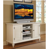Bermuda TV Credenza Stand, Textured Brushed White, 56''W x 20''D x 32''H