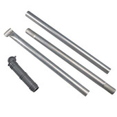 3-Piece Steel Post Assembly for WD-15-7 Retactable 5-Line Dryer, 2'' W x 2'' D x 84'' H