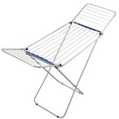 Siena 180 Aluminum Drying Rack, 59 Feet of Drying Space, 21-3/5'' W x 70'' D x 37'' -  44'' H