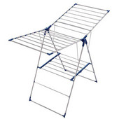 Roma 150 Stainless Steel 2-Tier Tripod Clothes Dryer, 49 Feet of Drying Space, 57'' W x 23-5/8'' D x 37-2/5'' - 48'' H