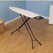 Fibertech Top Ironing Board with Bronze 4-Leg, Natural Cotton Cover & 5mm Fiber Pad