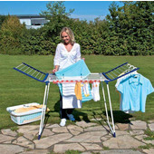 Pegasus 150 Deluxe Indoor/Outdoor Laundry Drying Rack, 49 Feet of Drying Space  , 21-45/64'' W x 37-2/5'' -  61-4/5'' D x 34-1/4 - 41-5/16'' H