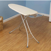 Fibertech Widetop Ironing Board with Aluminum 4-Leg, Natural Cotton Cover & 8mm Fiber Pad