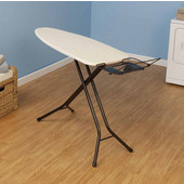 Fibertech Mega Widetop Ironing Board with Bronze 4-Leg, Natural Cotton Cover & 5mm Fiber Pad