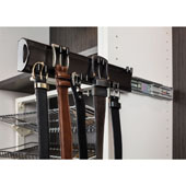 Double Hook Belt Rack, 14'', Dark Bronze