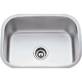 23-1/2'' Wide 18 Gauge 304 Stainless Steel Utility Sink, 23-1/2'' W x 17-3/4'' D x 9'' H