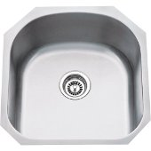 19-3/4'' Wide 18 Gauge 304 Stainless Steel Utility Sink, 19-3/4'' W x 20-1/2'' D x 9'' H