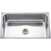 30'' Wide 18 Gauge 304 Stainless Steel Rectangular Utility Sink, 30'' W x 18'' D x 9'' H