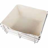 Tan Canvas Liner for 17''W x 16''D x 6''H Closet Basket