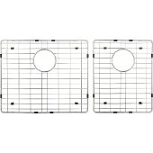 2-Piece Stainless Steel Grid for HA225 Fabricated Farmhouse Kitchen Sink, 18-11/16'' W x 15-9/16'' D x 1'' H