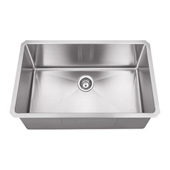 30'' Wide 16 Gauge 304 Stainless Steel Fabricated Kitchen Sink, 30'' W x 18'' D x 10-3/8'' H