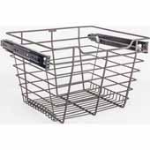 Closet Pullout Basket, Heavy Duty Wire Construction and 100 lb Rated Slides, Dark Bronze, 17''W x 14''D x 11''H