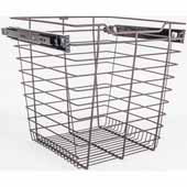 Closet Pullout Basket, Heavy Duty Wire Construction and 100 lb Rated Slides, Dark Bronze, 17''W x 14''D x 17''H