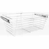 Closet Pullout Basket, Heavy Duty Wire Construction and 100 lb Rated Slides, Satin Nickel, 23''W x 14''D x 11''H